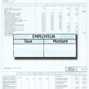 les charges patronales ont été déduites avant d'obtenir le salaire brut.