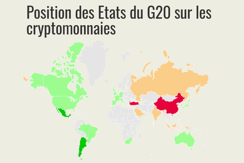 Carte interactive: les pays pros et anti-crypto du G20