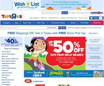 toys'r'us est le 1er e-marchand de la catégorie 'jouets et loisirs'