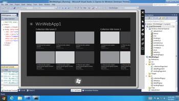 visual studio demeure l'environnement de développement pivot pour windows 8.