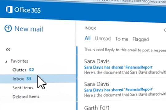 Clutter : l'Office Graph entre dans la messagerie