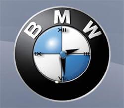 un widget horloge aux couleurs de bmw