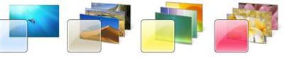 différents thèmes aero sont disponibles pour les possesseurs de carte graphique