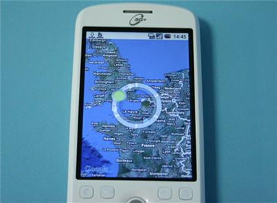 c'est ce cercle, au centre de l'écran, qui permet de zoomer ou dézoomer.