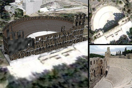 Le théâtre antique de Dyonisos