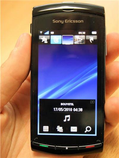 le menu principal du vivaz, sous symbian os
