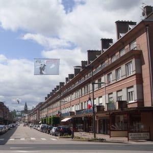 la rue thiers à saint-dié.