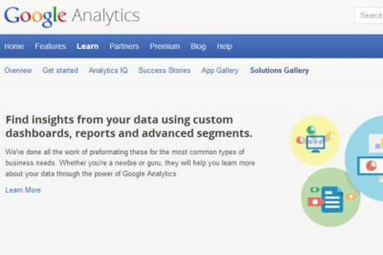 Google Analytics propose des rapports thématiques à télécharger