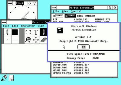 exemples de fenêtres sous windows 2.1.