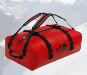 sac waterproof duffel de north face, 250 euros.