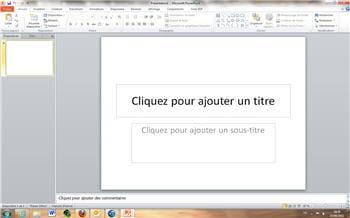 copie d'écran de powerpoint sous office 2011.