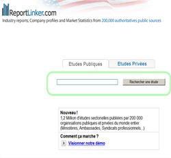 reportlinker, moteur de recherche d'informations sectorielles publiques