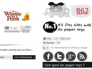 le site paper toys art sous wordpress embarque le célèbre bouton like de