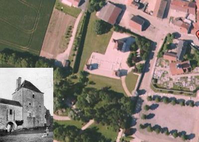 une vue aérienne du château de chazeuil.