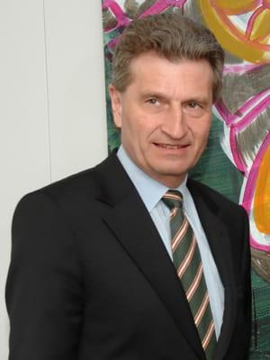 günther oettinger, commissaire européen à l'énergie.
