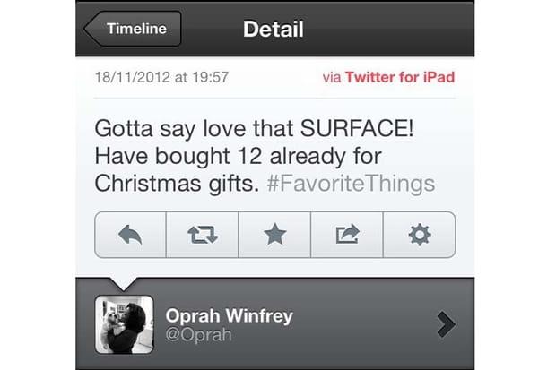 Oprah Winfrey prise en flag...