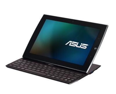 une tablette avec un clavier coulissant