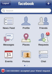 10 millions de mobinautes utilisent l'application facebook en france