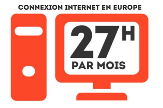 Temps passé sur Internet Europe