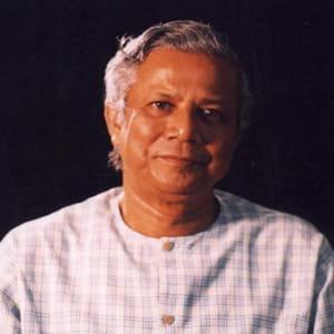 muhammad yunus, inventeur du micro-crédit.