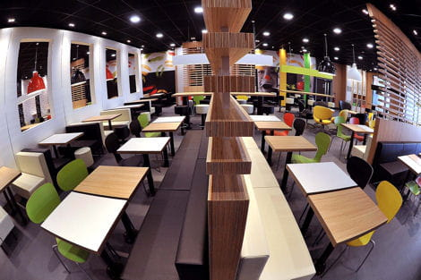 mcdonald interieur