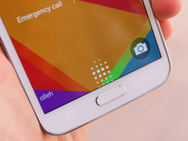 Empreintes digitales pour utiliser le Galaxy S5