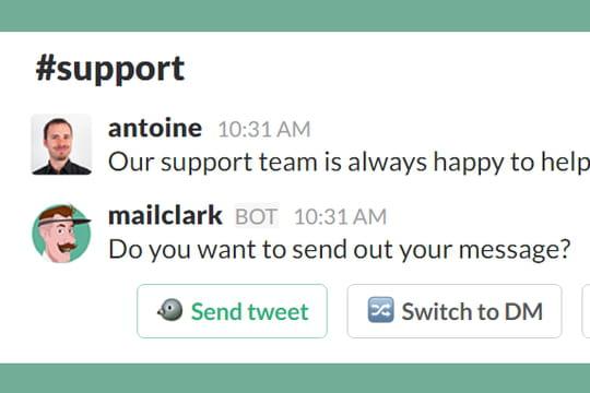 Le Français MailClark étend son bot pour Slack à la gestion des tweets
