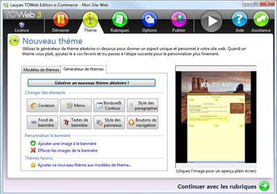 copie d'écran du logiciel proposé par le site de l'éditeur.