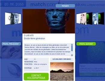 droïde recherche âme soeur sur match2055.com