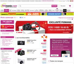 pixmania compte 4,2 millions de visiteurs uniques par mois, selon le dernier