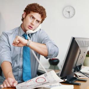 vous attendez le dernier moment pour vous mettre au travail.