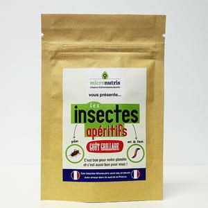 sachet d'insectes apéritif de micronutris.