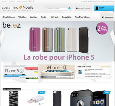 page d'accueil d'everything4mobile.fr