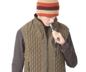 cette veste gonflable s'adapte à des températures allant de 15°c à -30°c.