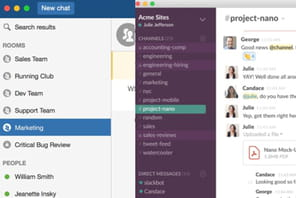 Collaboratif : le match Slack vs HipChat