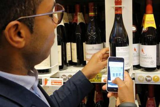 Visite de l'hypermarché pilote de la cellule innovation d'Auchan