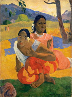 250 paul gauguin, nafea faa ipoipo (when will you marry ) 1892, oil on canvas,
