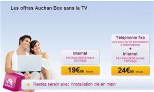 les forfaits auchan box