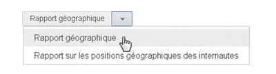 accès aux statistiques par zones géographiques.