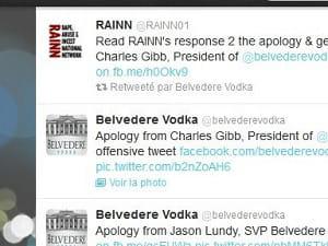 au coeur d'une polémique tenace, la marque de vodka belvedere a dû s'excuser sur