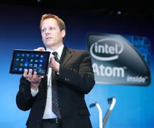 la présentation de la tablette quanta redvalequi dispose d'un processeur intel.