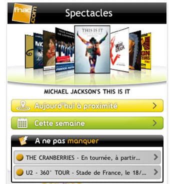 capture d'écran de l'application tick&live