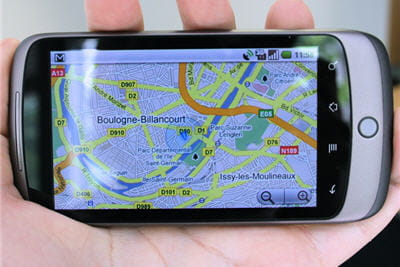 le service google maps sur le nexus one