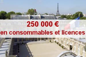'la maintenance et la location de matériels' coûte, elle, 750 000 euros.