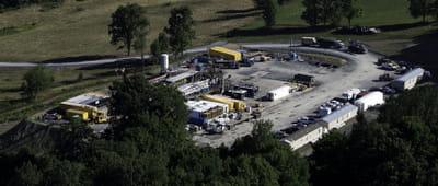 un puits de gaz de schiste en pennsylvanie.
