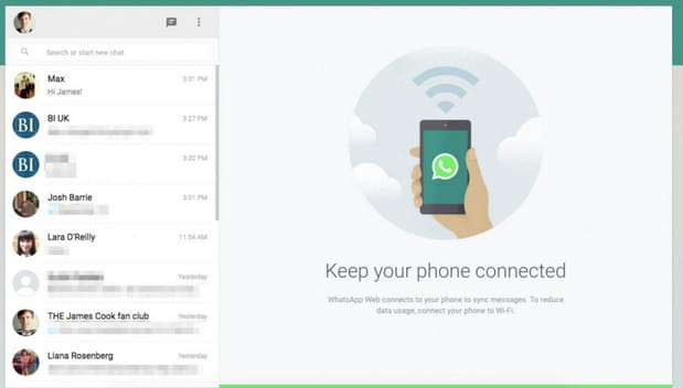 WhatsApp sur internet