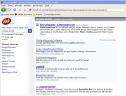 copie d'écran du moteur de recherche ask.com