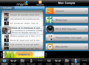 l'application msn