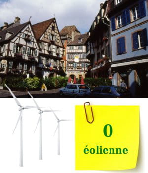 la région alsace nepossède pas encore d'éoliennes.
