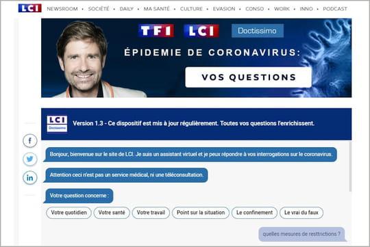 TF1lance son chatbot d'information sur le coronavirus